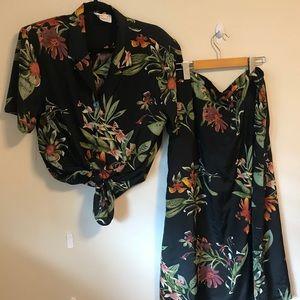 Dresses & Skirts - Two piece vintage shirt and skirt set